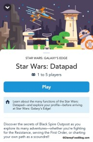 Star Wars Galaxys Edge Datapad Future DisneyExaminer Play Disney Parks App