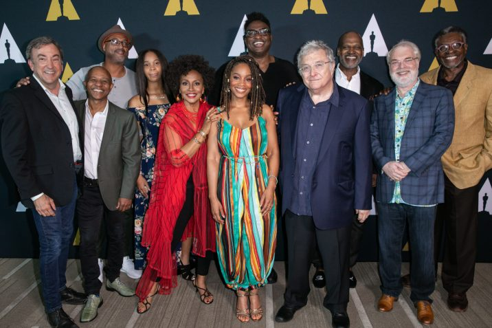 """The Academy presented """"The Princess and the Frog"""" as part of the Marc Davis Celebration of Animation, on Thursday, September 5, 2019. Pictured (left to right): Peter Del Vecho, Marlon West, Bruce W. Smith, Quvenzhané Wallis, Jenifer Lewis, Anika Noni Rose, Michael-Leon Wooley, Randy Newman, Rob Edwards, Ron Clements and Keith David."""