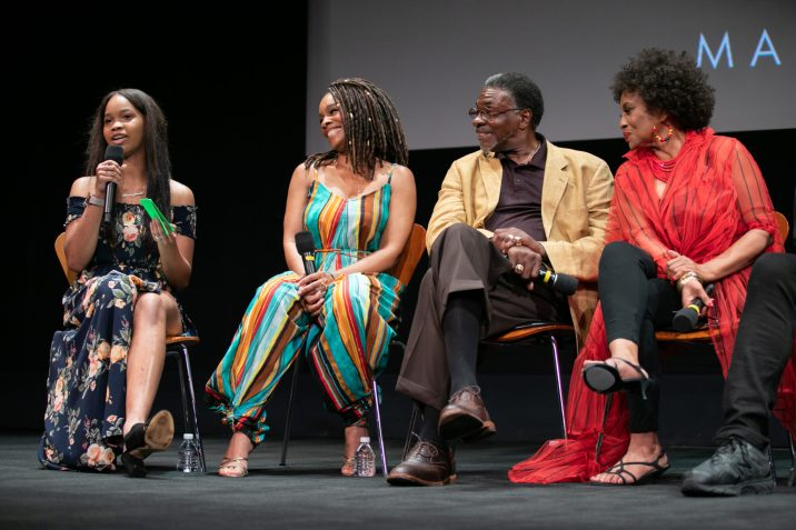 """Quvenzhané Wallis (left), Anika Noni Rose (left center), Keith David (right center) and Jenifer Lewis prior to """"The Princess and the Frog"""" presented by the Academy of Motion Picture Arts and Sciences as part of the Marc Davis Celebration of Animation, on Thursday, September 5, 2019."""