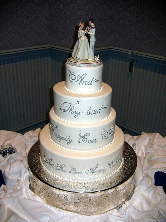 Disney Cinderella Fairy Tale Wedding Cakes