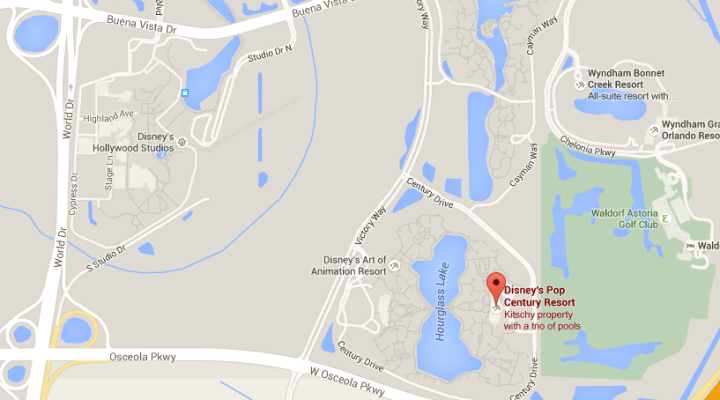 disney pop century resort ubicacion location