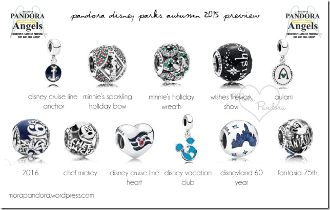 Disney Park Exclusive Pandora Charms Fall 2015 Preview Is