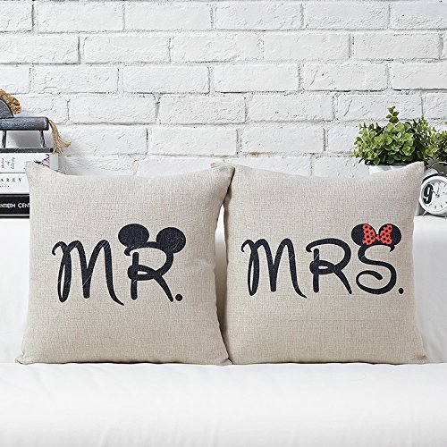 Disney Discovery Disney Mr And Mrs Pillow Cases
