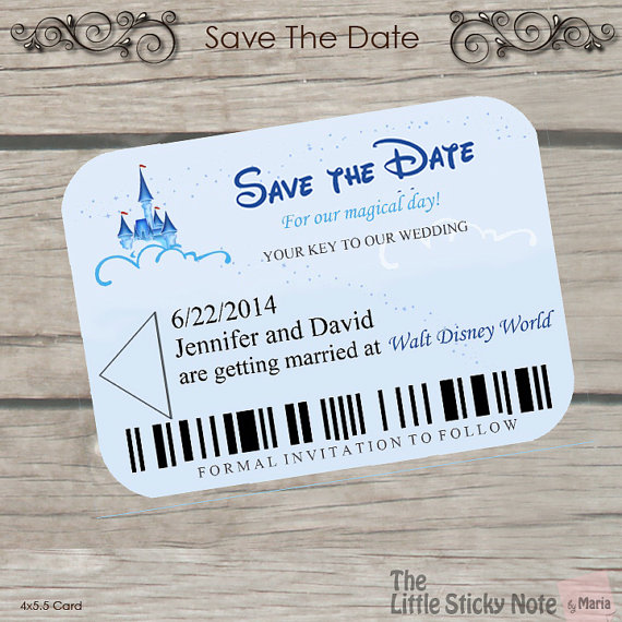 Disney Wedding Disney Themed Save The Dates