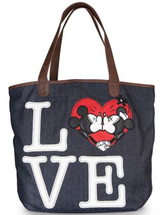 a0ceb48e2a9 2016-01-16 23 55 37-Minnie X Mickey Love Denim Tote - Disney Bags