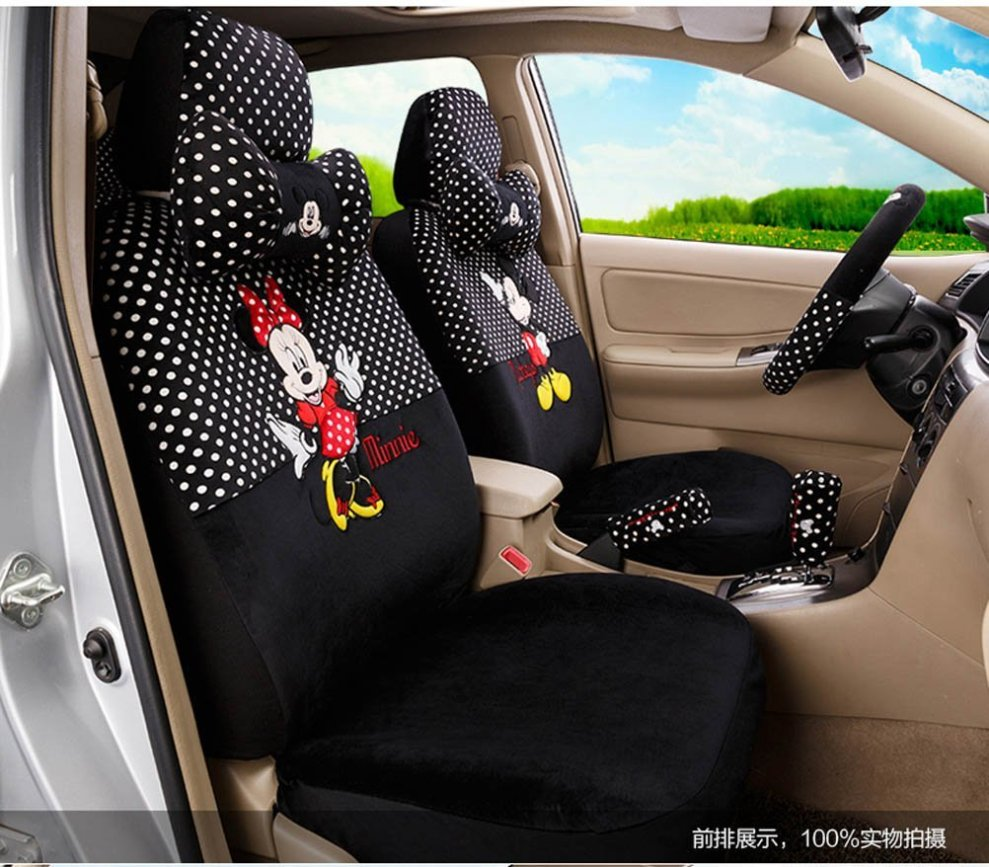 Disney Discovery Minnie Mouse Polka Dot Seat Covers