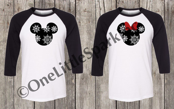 pull out the misteltoe these disney shirts are made for couples