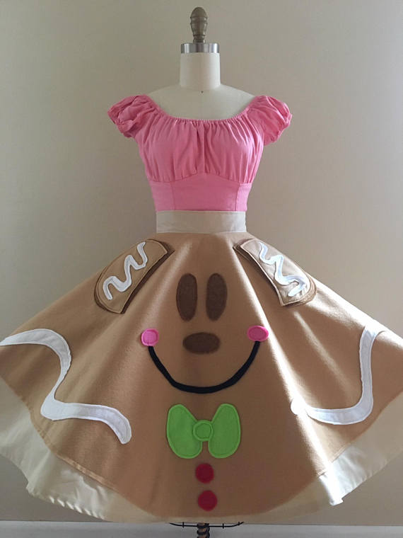 Gingerbread Mickey Skirt