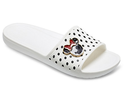 604ab6f3f Crocs Sloane Minnie Slide– Slides are super easy for summer and the pool  and errands… options are endless. Crocs are also super comfy and