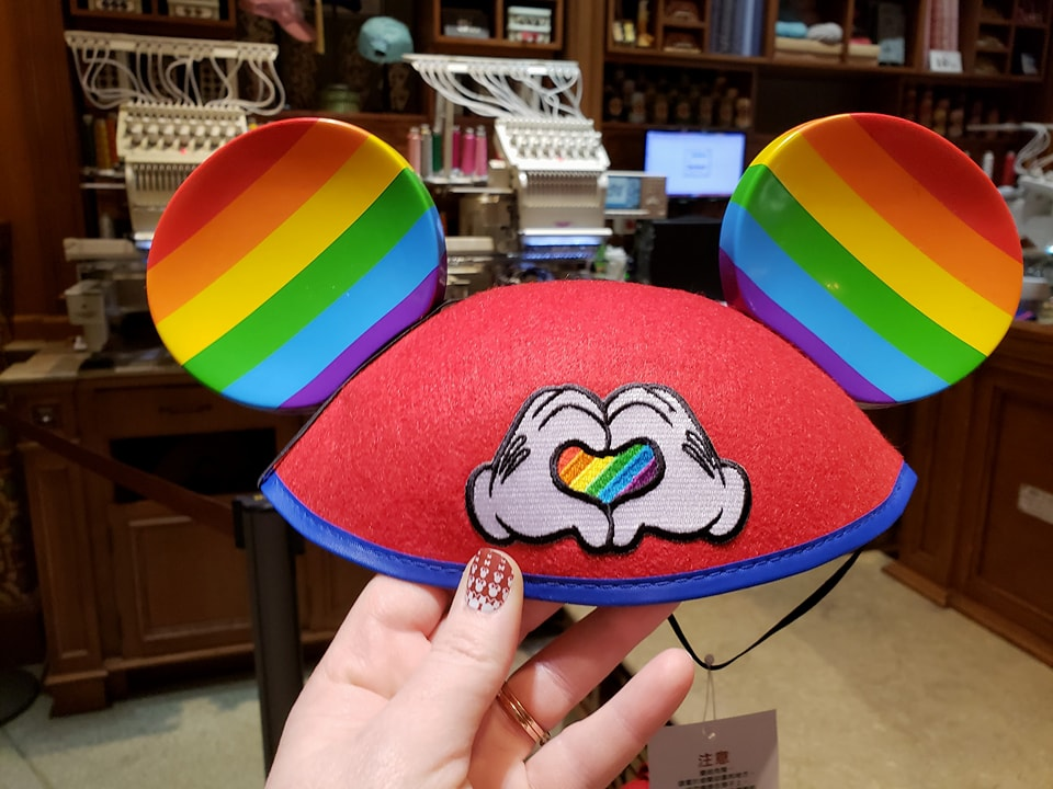 66bb253bef7 Rainbow Colored Pride Mickey Mouse Ears from Disneyland