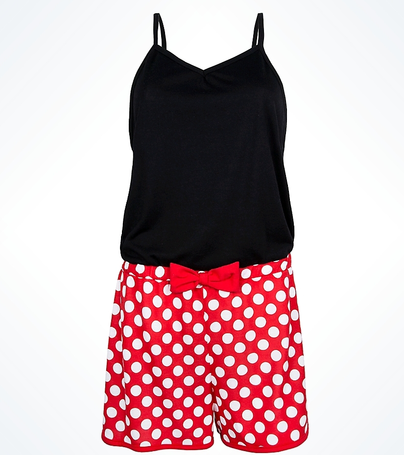 These two Minnie options are perfect for a Minnie Disney Bound or if you  just want to rock the dots. I love the option of having either shorts or a  dress. 6324d85c5