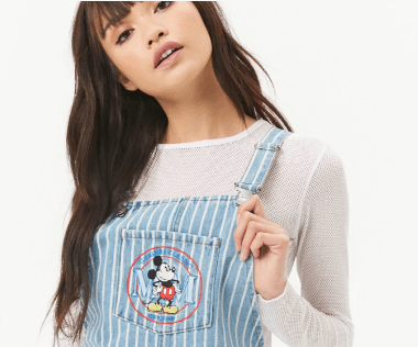 Striped Mickey Denim Dress