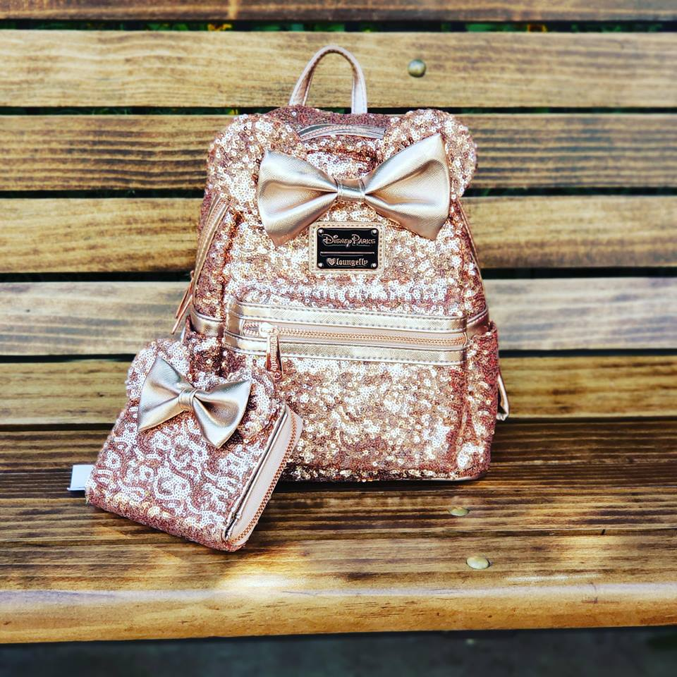 b6def49e920 The Sequin Rose Gold Minnie Backpack (And Matching Wallet) Is Amazing