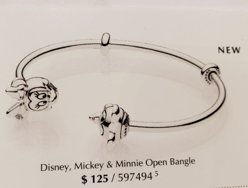 d8a3b7b25 The reason I went into the store was to ask about a new bangle I heard was  being released. It is an open bangle with Mickey and one side and Minnie on  ...