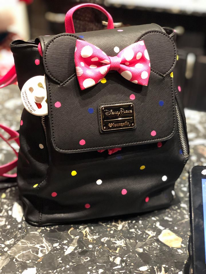 427eb8115d0 New Minnie Mouse Loungefly Bags Rock The Dots