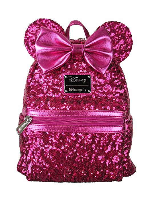6300eba7569 Disney Discovery- Loungefly x Minnie Mouse Sequin Mini Backpack