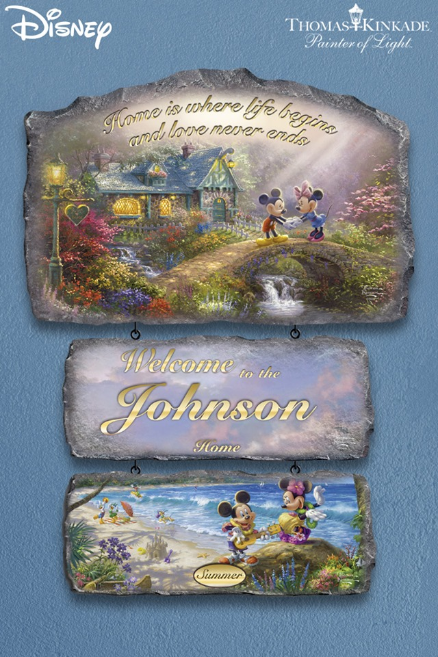 Personalized Disney Welcome Sign