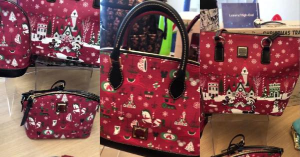 Disney Parks Dooney /& Bourke 2019 Christmas Holiday Crossbody Mickey 2019 New