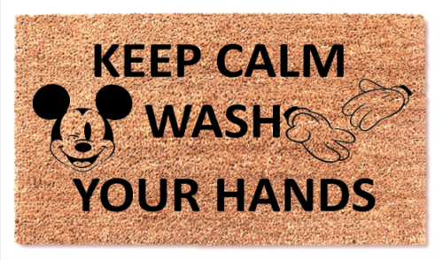 Mickey Wash Your Hands Doormats