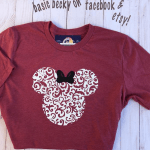 Glittery Minnie Mouse Tee