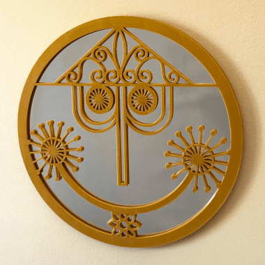 Small World Clock Face Mirror