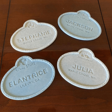 Cast Member Name Badge Accessories
