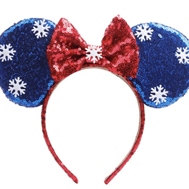 Sequin Snowflake Minnie Ears