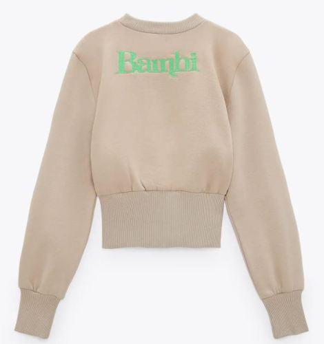 Zara Bambi Sweatshirt Back
