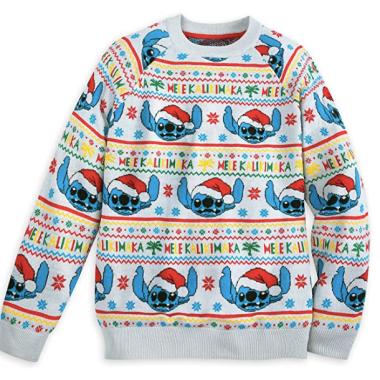 Light-Up Stitch Christmas Sweater