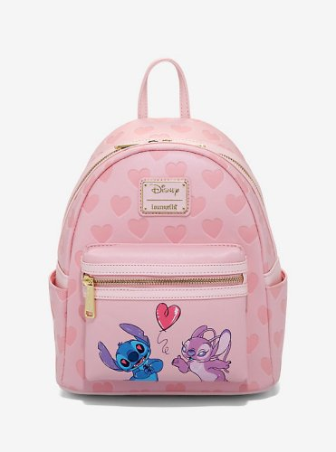 Stitch and Angel Backpack and Cardholder