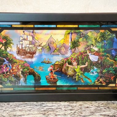 Neverland painting on stained glass
