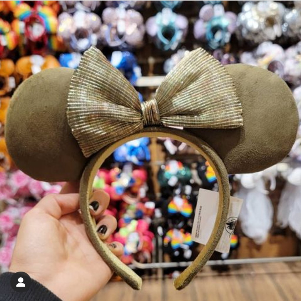 Olive green Minnie ears