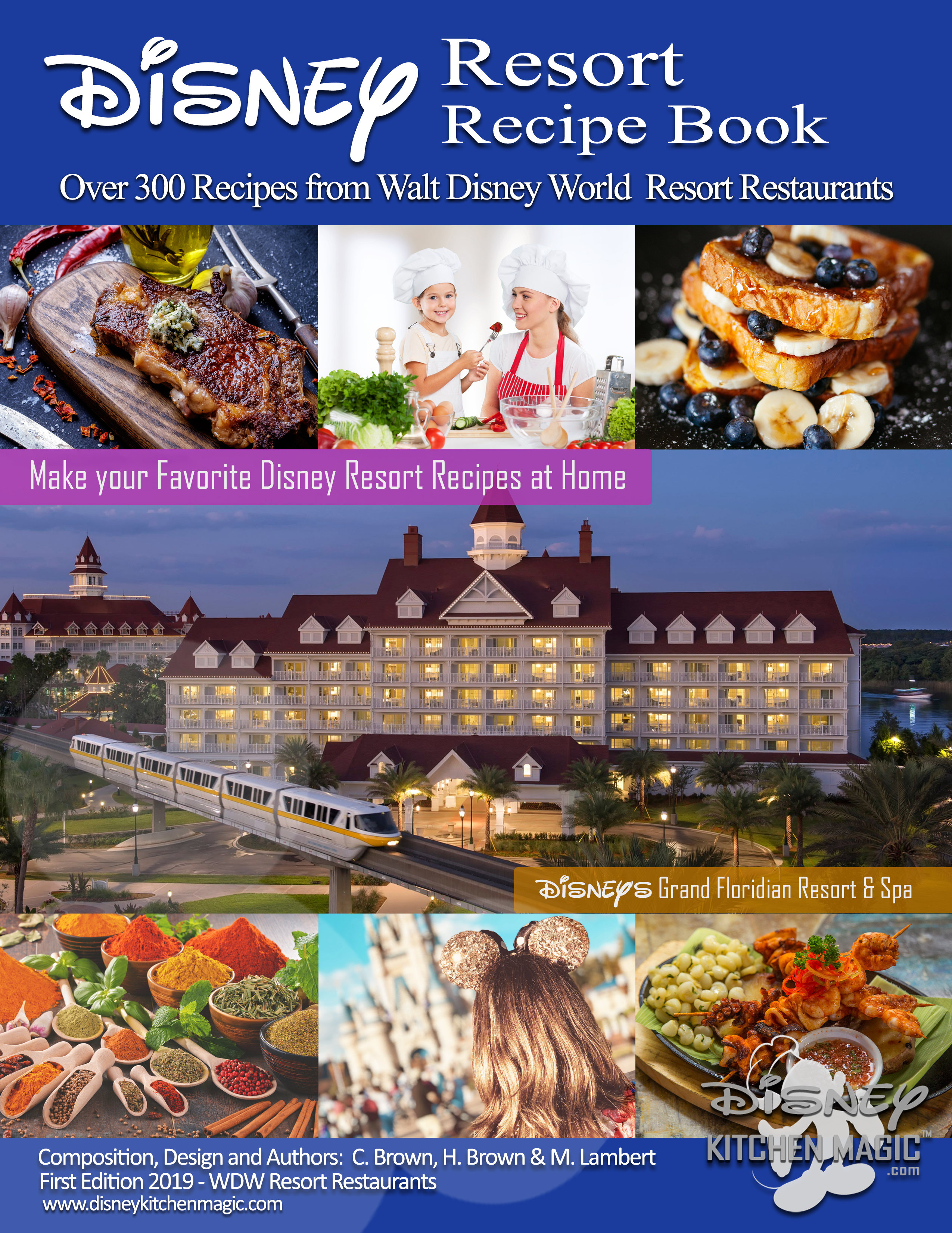 Disney Resort Recipe Book - First Edition 2019 - Cover
