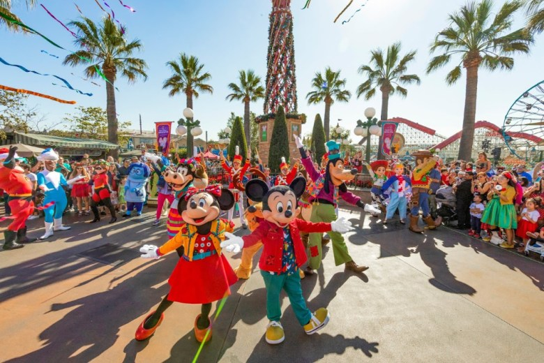 Mickey, Minnie y sus amigos en Disney California Adventure