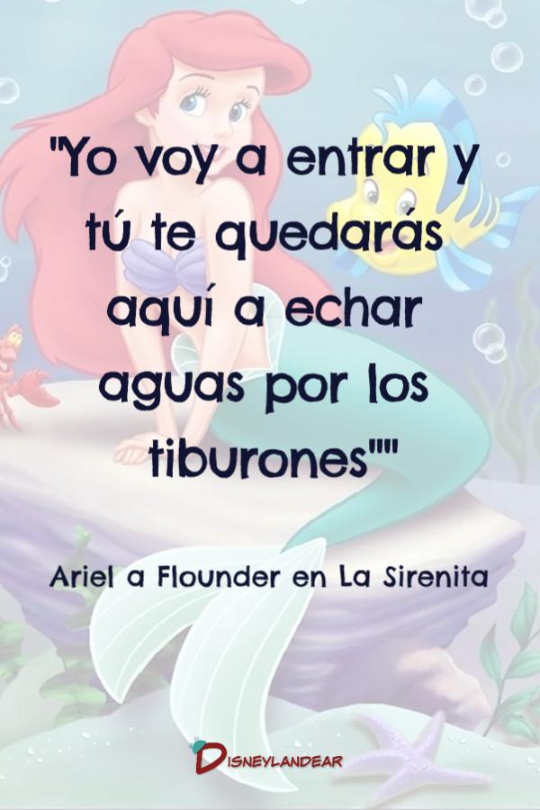 Frase de la película de Disney La Sirenita