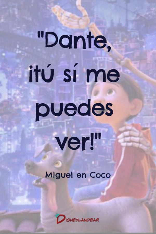 Frase de la película Pixar Coco