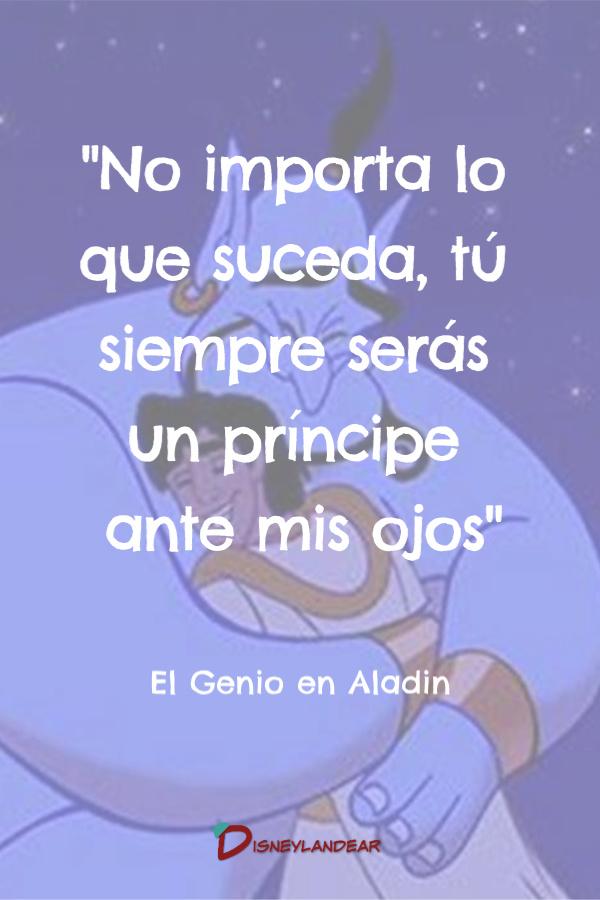 Frase del genio de Aladino en la película de Disney