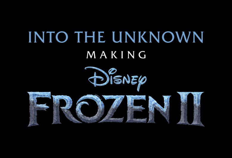 logo que dice Into the unknown: Making Frozen II
