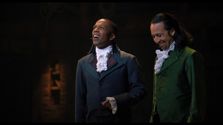 Hamilton y Burr en una escena de la obra teatral de Broadway, Hamilton