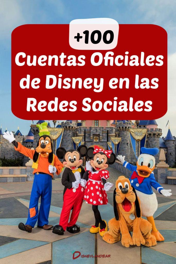 Foto con personajes de Disney que dice más de 100 cuentas de Disney en las redes sociales