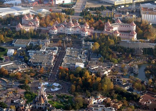 Photos ariennes de Disneyland Paris