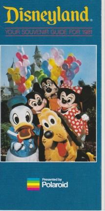Disneyland Map 1980
