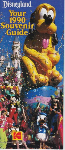 1990-1993 Disneyland Resort Guide Maps
