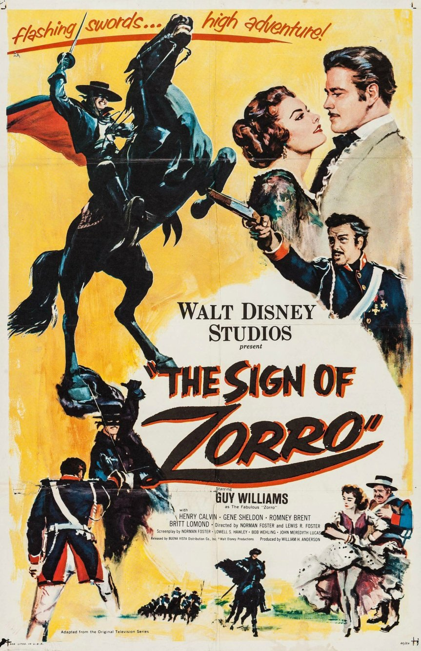 """Poster for the movie """"The Sign of Zorro"""""""