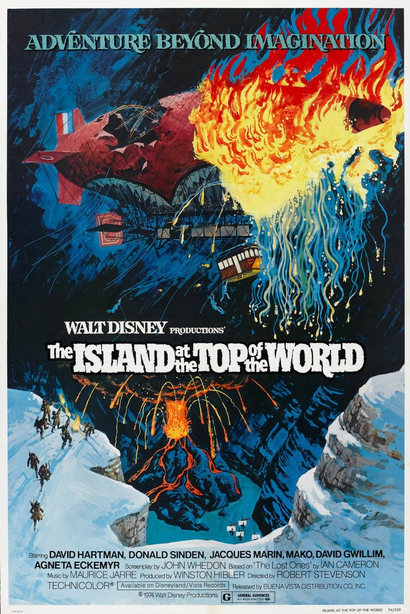 The Island at the Top of the World Disney Movies List