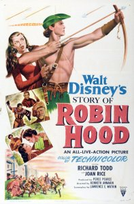 "Poster for the movie ""The Story of Robin Hood and His Merrie Men"""