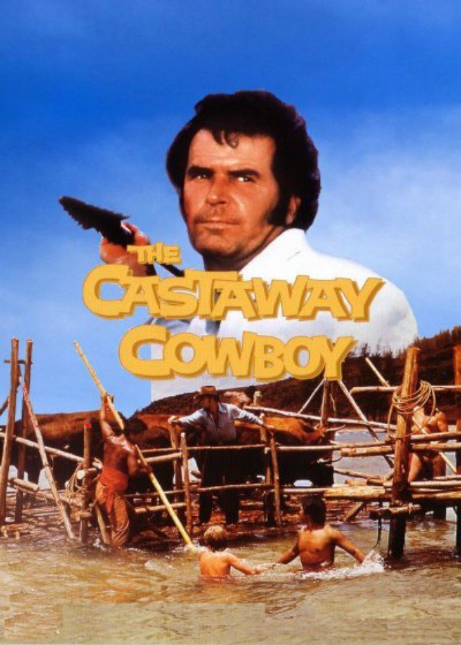 "Poster for the movie ""The Castaway Cowboy"""