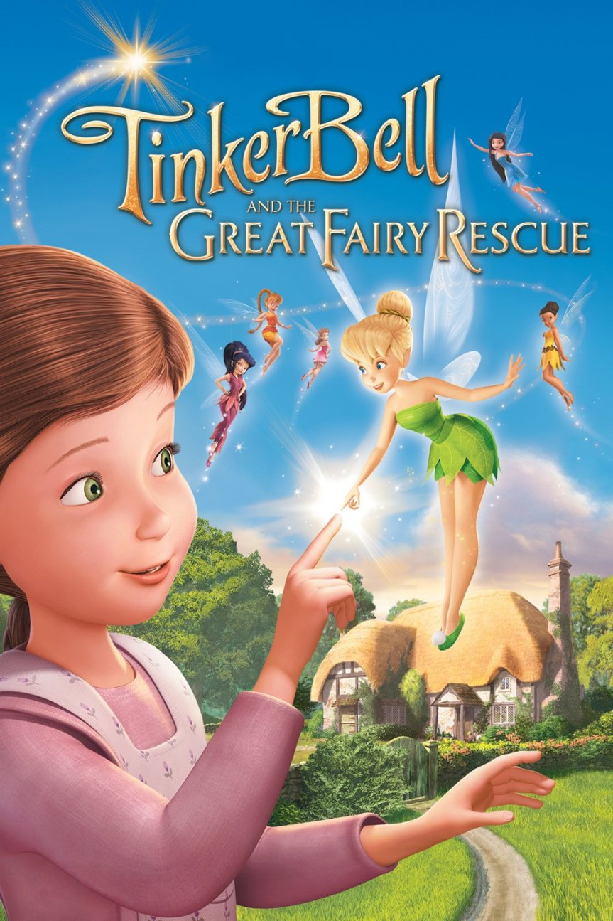 "Poster for the movie ""Tinker Bell and the Great Fairy Rescue"""