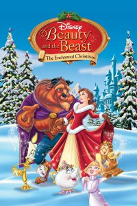 "Poster for the movie ""Beauty and the Beast: The Enchanted Christmas"""