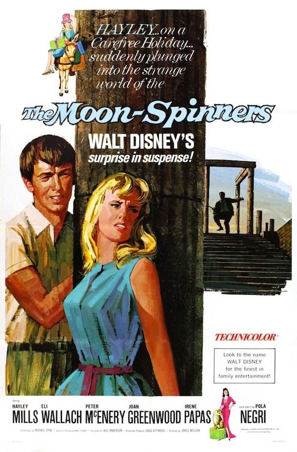 """Poster for the movie """"The Moon-Spinners"""""""